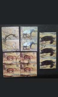 Malaysia 1979 3rd Definitive Animals Block Of 2x2, 3 & 4 - 11v Used Stamps