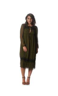 Brand new topshop embellished khaki dress RRP$159.95