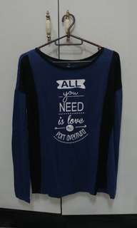 Sinsay Long Sleeves - Blue Statement