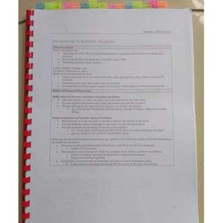 NTU AC3103 Bible (Hardcopy)