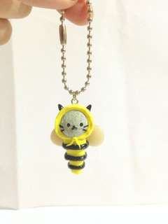 Polymer clay kawaii kitty bee