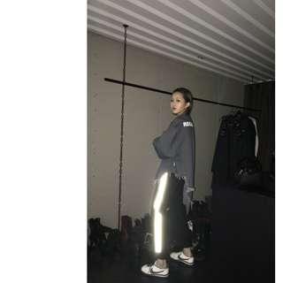 VM 原創潮流 街頭運動風 中性 3M反光 側邊條 縮口休閒褲