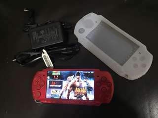 PSP 3006 red complete set full games
