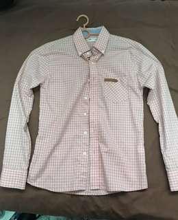 Peach Colour Checked Shirt