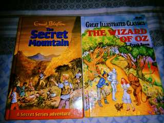 Enid Blyton The Secret Mountain and The Wizard of Oz by L. Frank Baun