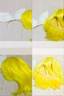 Kagamine rin wig and headband