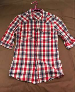 Luis Red checked with Blue Shirt