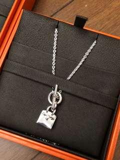 Hermes birkin necklace 925 silver