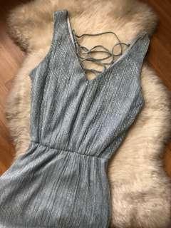 Miss Selfridge Pastel Blue Shimmer Dinner Dress