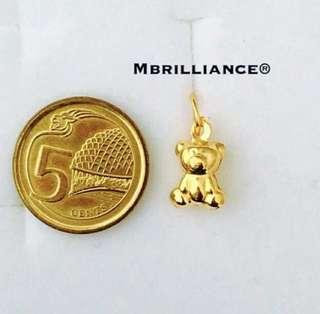 🚚 Baby bear pendant 916 gold