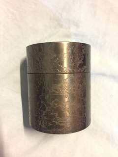日本純銅丸形茶筒 (中古)Japan Copper Tea Can