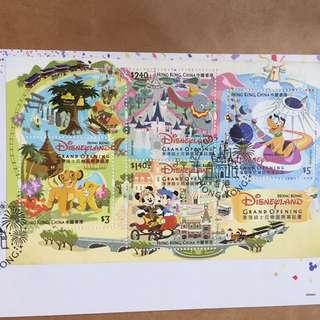 香港迪士尼樂園開幕誌慶正式首日封