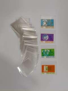 Stamps protective transparent OPP Pocket(100 pcs)