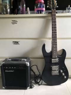 Silverstone electric guitar and amplifier