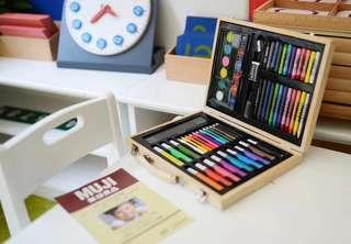 MUJI無印良品純天然木盒畫筆套裝