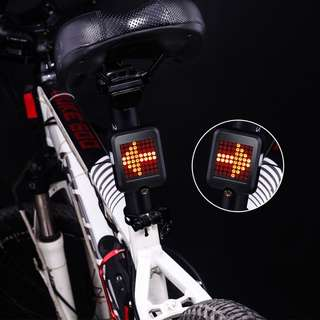 USB Rechargeable Auto-sensing Bicycle Turn Signal 64 LED Bike Taillight