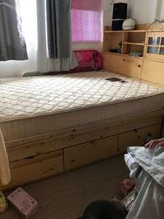 木床架4呎半x6呎