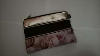 Typo Rose pattern pencil case triple zip