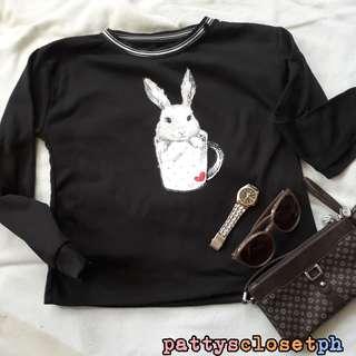 Rabbit Sweater in Black
