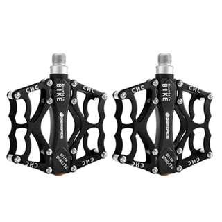 DEROACE BLACK - A Pair of Super Light Aluminium Bike Bicycle Pedal