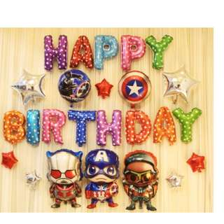 (In Stock)Super Hero Theme Party Decoration Set-Happy Birthday