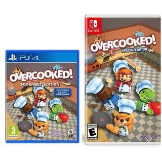 全新 switch 和 PS4 Overcooked 可換 game