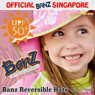 Baby BanZ Kids UV Reversible Soft Breathable Sun Hats, 2 -5 Years