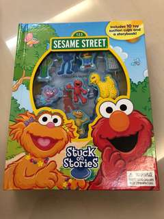 Sesame Street stuck on stories (include 10 toy suction cups and a storybook)