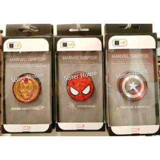 (包郵)🇰🇷Marvel Smart Grip Tok 英雄聯盟手提電話指扣及繞線器