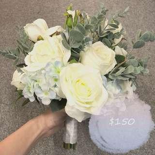 Pre- Wedding Silk Flower Bouquets 結婚花球 絲花花球 永生花 婚照 婚紗相 拍攝 道具