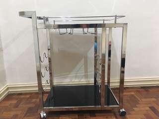 Glass Bar Pushcart
