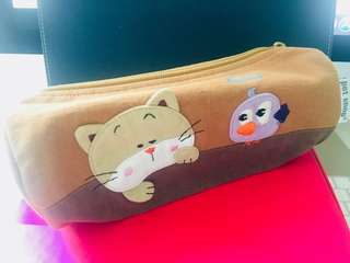 Cute pencil case/brown colour