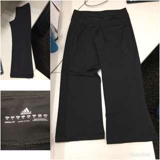 Adidas女裝黑色鬆身運動褲(44號/加大碼/9成新/32吋腰/38吋長/大腿約22吋)