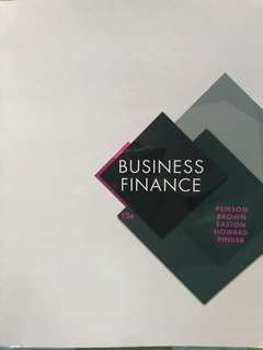 Business Finance (Corporate Finance) 12E Peirson Brown