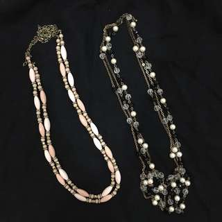 Forever 21 layered bead necklaces