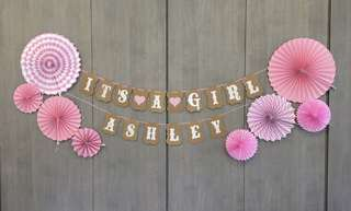 Decor for baby gal 1st month & 1st year