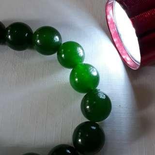 Very nice deep green, top grade Jade bracelet.(玉手链)