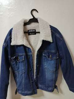 Denim Jacket with Synthetic Wool