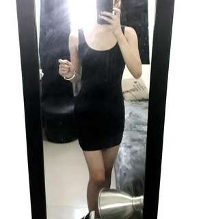 Terranova bodycon black dress