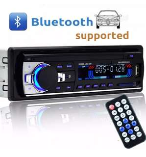 Wireless Bluetooth Car Audio Stereo In-Dash Car MP3 Player Support Aux Input TF Card USB