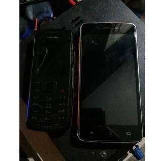 Nokia X1 and Cherry Mobile Flare Lite 3 (defective)