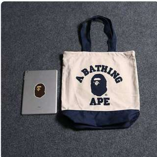 A Bathing Ape College Logo Totebag