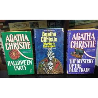 Set of 3 Agatha Christie Novels