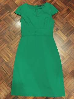 Rich Green Pencil Dress