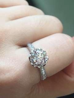 私人放高色 🈹️18k金鑽石戒指2卡效果GIA 原價$79300蝕讓價$44800