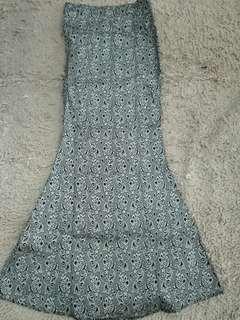 Mermaid Skirt Printed Songket