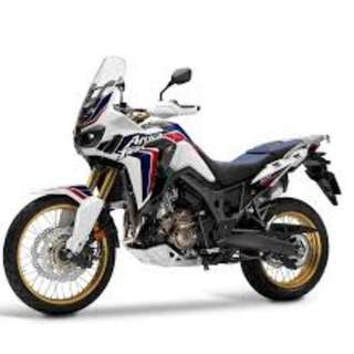 honda African Twin 1000 OTR Without insurance 32.2k with alu top box, mainstand and crush bar D/P $1500 or $1000 With out insurance (Terms and conditions apply. Pls call 67468582 De Xing Motor Pte Ltd Blk 3006 Ubi Road 1 #01-356 S 408700.