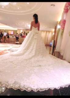 Bridal Dress Wedding Dress 3D flower From Taiwan