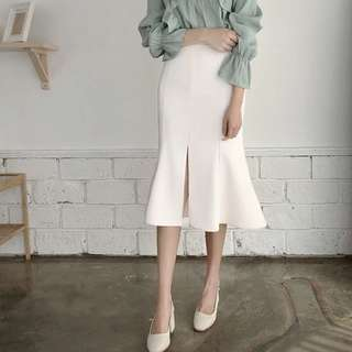 (More cols) Fishtail flare farted Pencil skirt