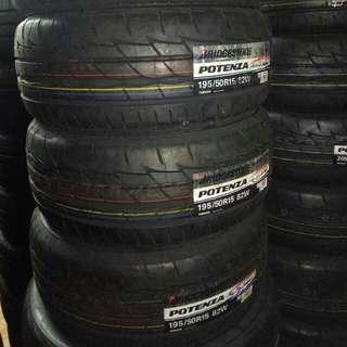 Bridgestone Potenza Re003 195/50/15
